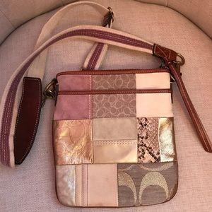 Coach patchwork print swing bag